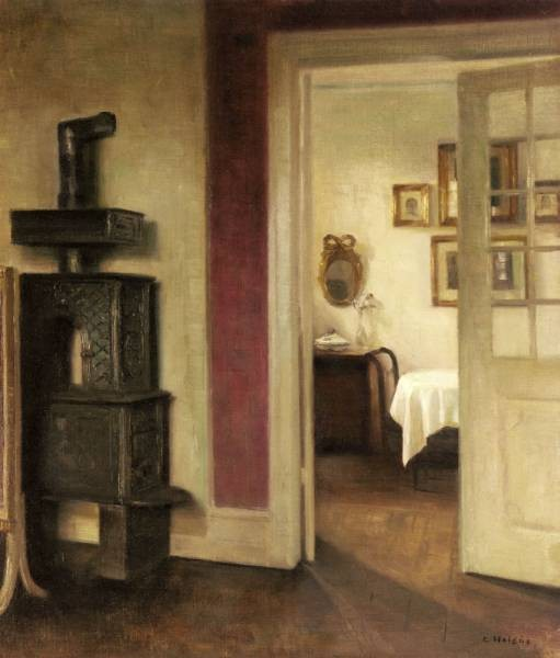 Holsoe Carl An Interior With A Stove